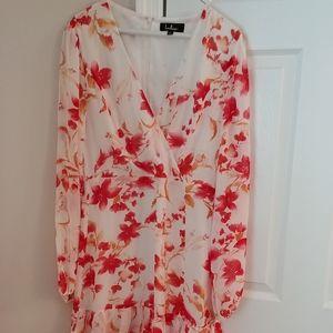 Lulus NWT floral ruffle dress